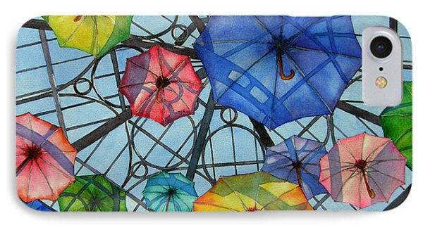 Palazzo Parasols IPhone Case by Judy Mercer