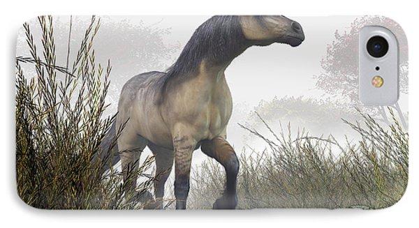 Pale Horse In The Mist Phone Case by Daniel Eskridge