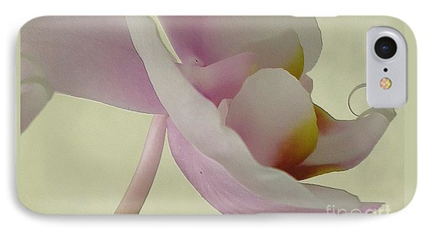 Pale Orchid On Cream IPhone Case