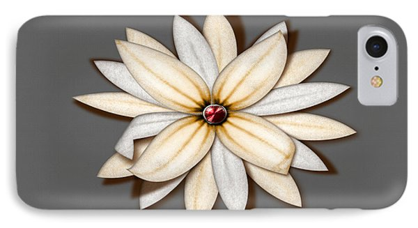 Pale Paper Bloom IPhone Case by Tina M Wenger