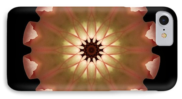 Pale Pink Tulip Flower Mandala IPhone Case by David J Bookbinder