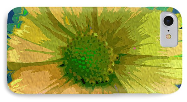 Palette Knife Coneflower IPhone Case by Nina Silver