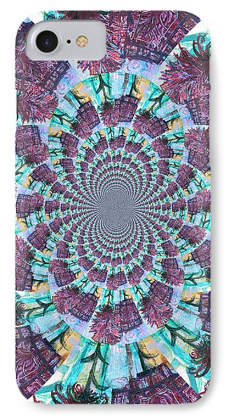 Palette Knife Flowers Kaleidoscope Mandela Phone Case by Genevieve Esson