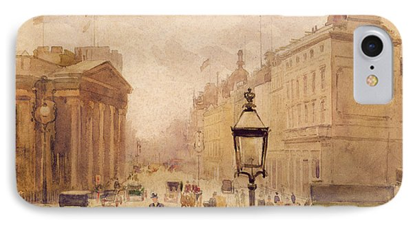 Pall Mall From The National Gallery IPhone Case by Joseph Poole Addey