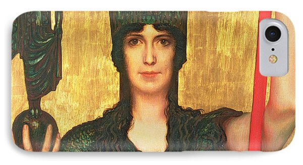 Pallas Athena IPhone Case by Franz Von Stuck