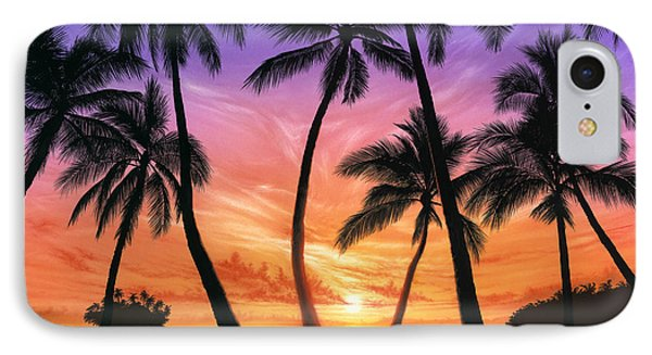 Palm Beach Sundown Phone Case by Andrew Farley