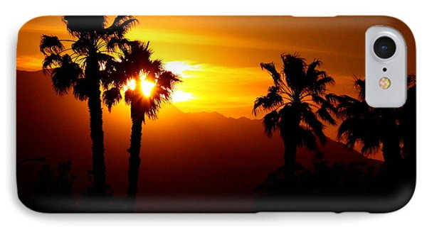 Palm Desert Sunset IPhone Case by Patrick Witz