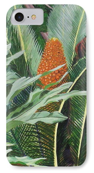 IPhone Case featuring the painting Palm King by Hilda and Jose Garrancho
