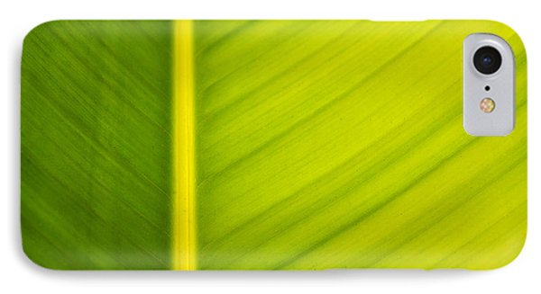 Palm Leaf Macro Abstract Phone Case by Adam Romanowicz