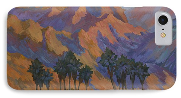 Palm Oasis At La Quinta Cove IPhone Case by Diane McClary