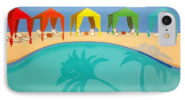 Palm Shadow Cabanas IPhone Case
