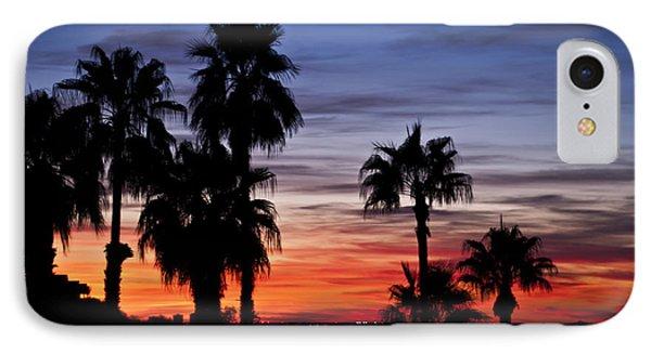 Palm Shadows IPhone Case by Deborah Klubertanz