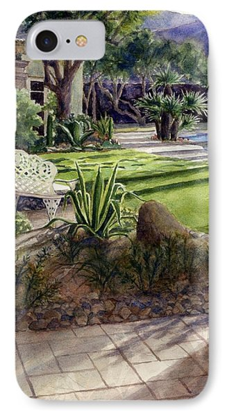 Palm Springs Backyard IPhone Case by Janet King