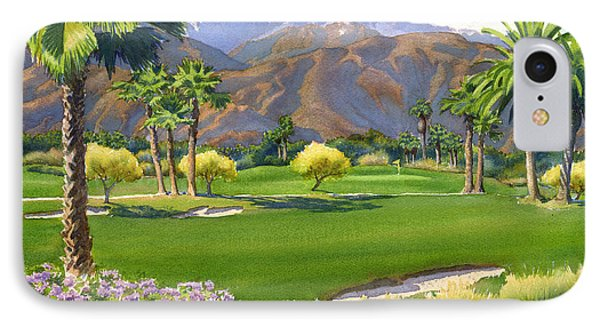 Palm Springs Golf Course With Mt San Jacinto IPhone 7 Case by Mary Helmreich