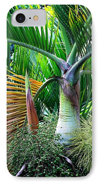 Palm Tree Inflorescence In The Rainforest  Phone Case by Karon Melillo DeVega
