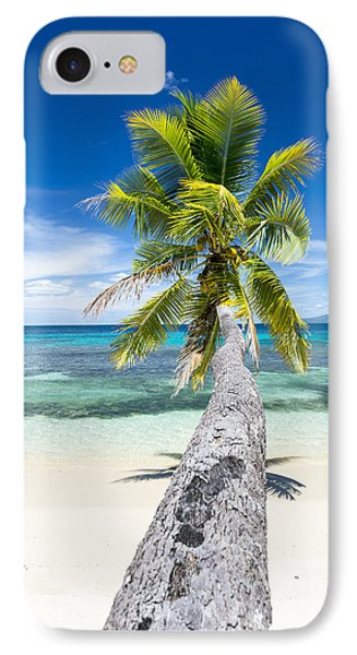 Palm Tree Over Water IPhone Case by Joe Belanger