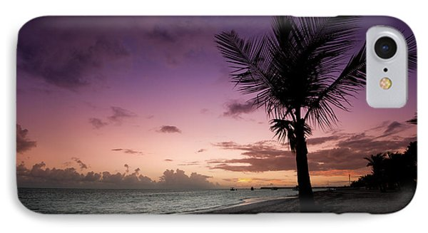 Palm Tree Sunrise IPhone Case by Sebastian Musial