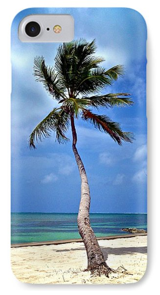 Palm Tree Swayed Phone Case by Kristina Deane