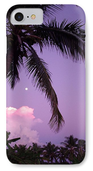 Palm Tree With Moon IPhone Case