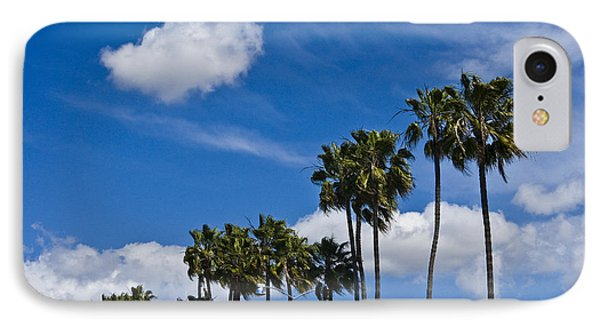 Palm Trees In San Diego California No. 1661 IPhone Case by Randall Nyhof