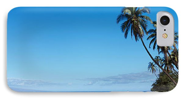 Palm Trees On The Coast, Lahaina, Maui IPhone Case by Panoramic Images