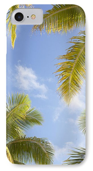 Palms And Sky Phone Case by Brandon Tabiolo