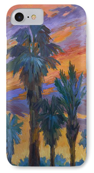 Palms And Sunset Phone Case by Diane McClary