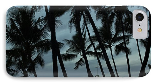Palms At Dusk IPhone Case by Suzanne Luft