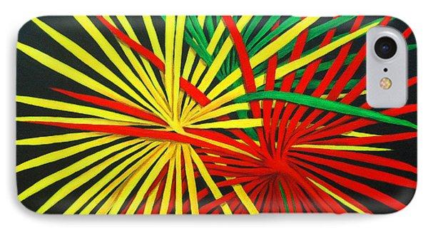 Palms Bursting IPhone Case by Roseann Gilmore