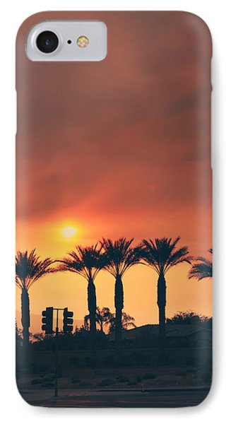 Palms On Fire Phone Case by Laurie Search