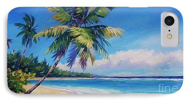 Palms On Tortola Phone Case by John Clark