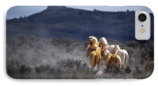 Palomino Buttes Band D1482 Phone Case by Wes and Dotty Weber