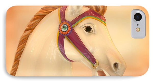 Palomino Carousel Horse IPhone Case by Sabrina L Ryan