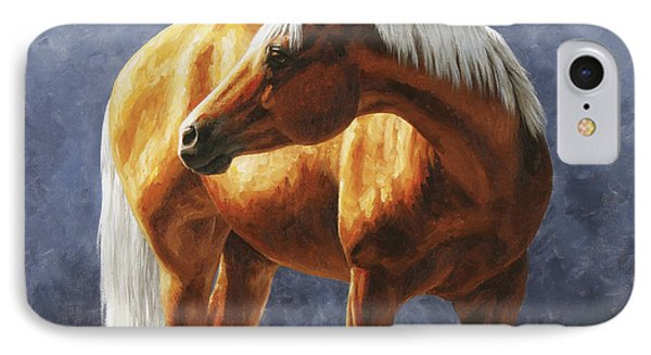 Palomino Horse - Gold Horse Meadow Phone Case by Crista Forest