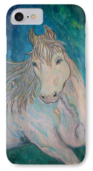 IPhone Case featuring the painting Palomino Thunder by Ella Kaye Dickey