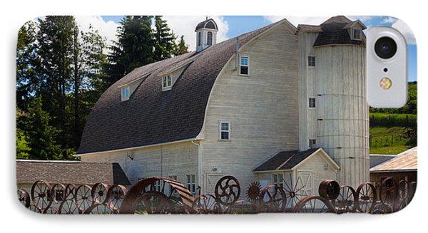 Palosue Wagon Wheel Fence  IPhone Case by Inge Johnsson