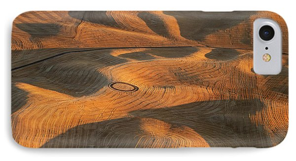 Palouse Contours V IPhone Case by Latah Trail Foundation