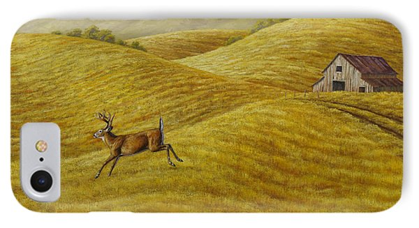 Palouse Farm Whitetail Deer IPhone Case by Crista Forest