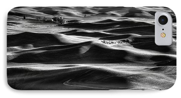 Palouse In Black And White IPhone Case by Mark Kiver