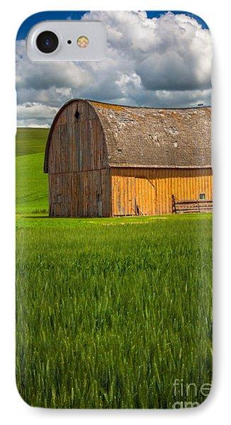 Palouse Yellow Barn IPhone Case