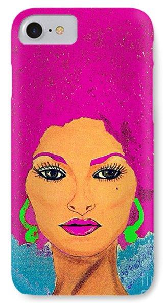 Pam Grier Bold Diva C1979 Pop Art IPhone Case by Saundra Myles