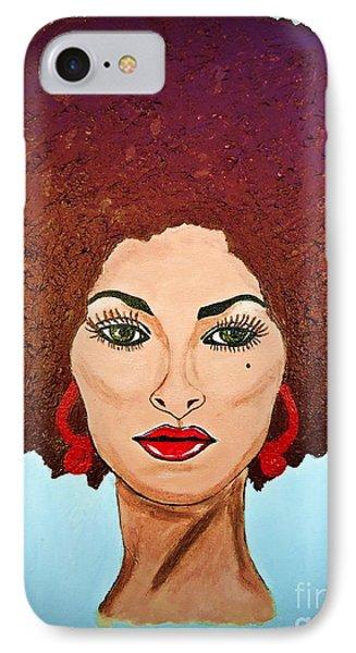 Pam Grier C1970 The Original Diva IPhone Case by Saundra Myles