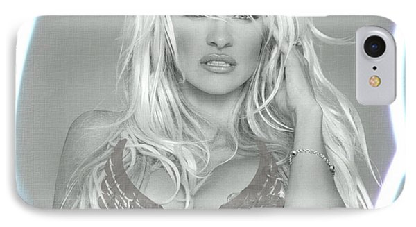 Pamela Anderson - Angel Rays Of Light IPhone Case by Absinthe Art By Michelle LeAnn Scott