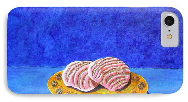 Pan Dulce Azul IPhone Case by Manny Chapa