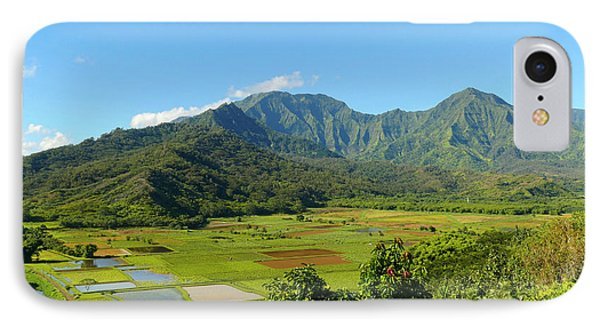 Pan, Hanalei Valley Lookout, Taro IPhone Case by Douglas Peebles