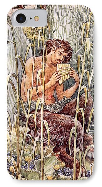 Pan Playing His Pipes IPhone Case by Walter Crane