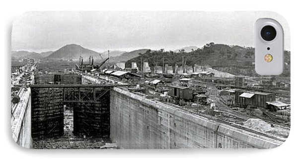 Panama Canal Construction 1910 Phone Case by Photo Researchers