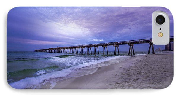 Panama City Beach Pier In The Morning IPhone Case by David Morefield