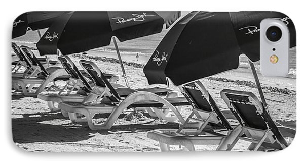 Panama Jack Blues - Higgs Beach - Key West - Square - Black And White  IPhone Case by Ian Monk