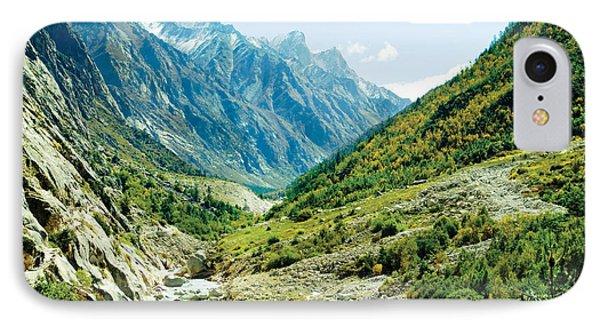 Panarama Of Valley And River Ganga IPhone Case by Raimond Klavins
